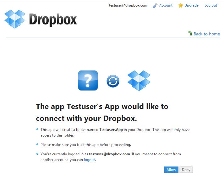 OAuth Dropbox
